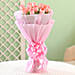 Bouquet of 12 pink roses flowers gifts womens day women day woman day women's day