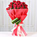 Bunch of 20 red roses with draceane leaves gifts