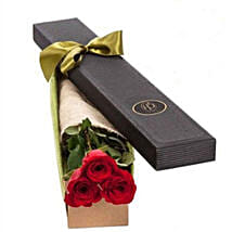 3 Red Roses in Gift Box: Roses to Australia