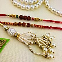 Bade Miya Chhote Miya and Bhabhi Three Rakhi Set: Rakhi to Perth