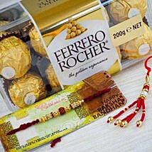 Bhaiya Bhabhi Rakhi with Farrero Rochar: Rakhi with Chocolates to Australia