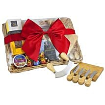 Cheese Set Picnic Basket: Gift Hampers to Australia