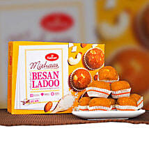 Delicious Besan Ladoo 400g: Birthday Gifts Delivery in Victoria
