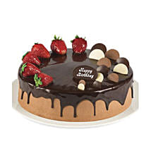 Double Chocolate Strawberry Cake: Valentine's Day Cake Delivery in Australia