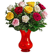 Dozen Assorted Roses: Send Birthday Gifts to Melbourne