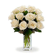 Dozen White Roses: I Am Sorry Flowers to Australia