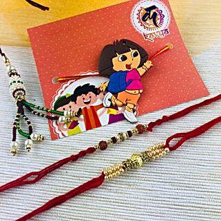 Lovely Family Rakhi Set: