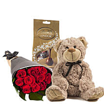 Lovely Red Roses Combo: Flowers N Chocolates to Australia