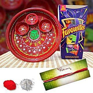 Mix Cadbury Tikka Thali: Bhai Dooj Gift Delivery in Australia