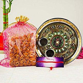 Mix Dry Fruits In Meenakari Thali: Bhai Dooj Gifts to Australia