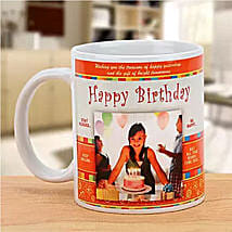 Personalized Happy Birthday Mug: Same Day Gift Delivery Melbourne