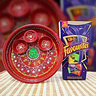 Puja Thali and Cadbury Favourites: Diwali Gifts to Australia
