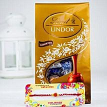 Rakhsa Rakhi With Lindt Chocolate: Rakhi with Chocolates to Australia