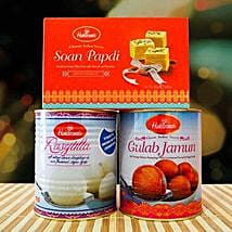 Rasgulla Gulab Jamun and Soan Papdi: Birthday Gifts to Melbourne