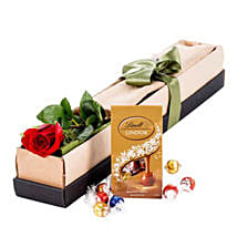Single Stem Red Rose With Chocolate: Rose Day Gifts to Australia