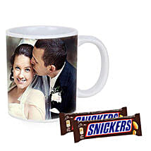 Snickers With Personalised Mug Combo: Send Fathers Day Gifts to Australia