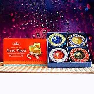 Soan Papdi With Traditional Diya: Diwali Gifting in Australia