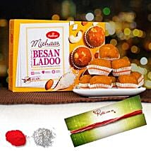 Tikka With Besan Laddoo: Bhai Dooj Gift Delivery in Australia