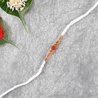 White Rudraksha Rakhi Thread: Send Rakhi to Austria