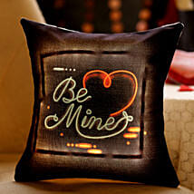 Be Mine Heart LED Cushion: Valentine's Day Gifts to Bahrain