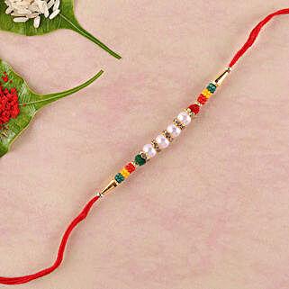 Colourful Lively Beads Rakhi: Rakhi for Brother in Bahrain