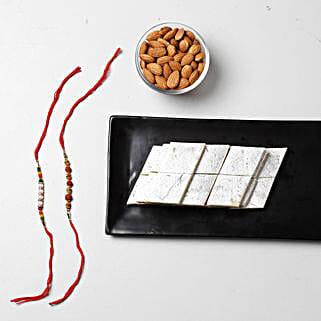 Kaju Katli Special Rakhi Combo: Rakhi With Sweets To Bahrain