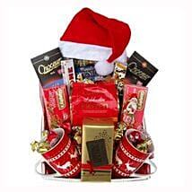 Santa Christmas Tea Basket: Gift Delivery in Belgium