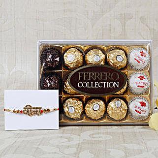 Veera Rakhi with Ferrero Rocher Collection: Send Rakhi to Belgium