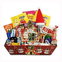 Christmas Retro Sweet Gift Basket: Corporate Gifts to Bulgaria