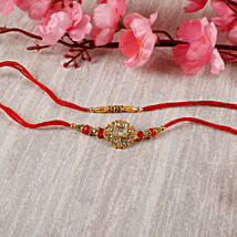 Premium Designer Diamond Rakhi Set: