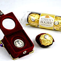 3 Ferrero Rocher And Silver Coin: Valentine's Day Gift Delivery in Canada
