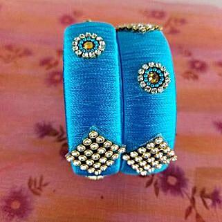 Attractive Bangles Set Blue: Designer Jewelry to Canada