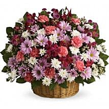 Big Flowers Basket: Gerberas Flower Delivery Canada