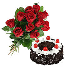 Black Forest Cake N Roses: Birthday Gifts to Canada