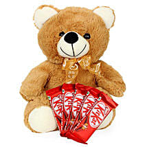 Brown Teddy N Chocolate Combo: Valentine's Day Gifts to Canada