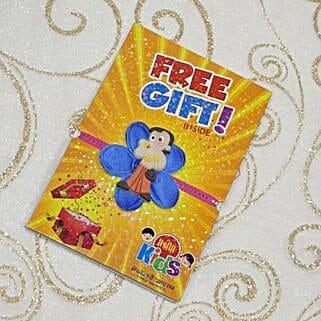 Chota Bheem Flower Rakhi With Free Gift: Send Rakhi to Winnipeg