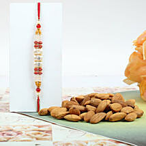 Colorful Rakhi With Almond: Rakhi with Dryfruits to Canada