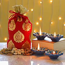 Diya And Dry Fruits Potli: Send Diwali Gifts to Toronto