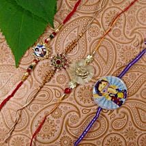 Family Rakhi Set Of Five: Set of 5 Rakhi Delivery in Canada