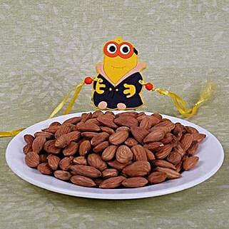 Kids Rakhi With Almonds: Rakhi and Dryfruits to Canada