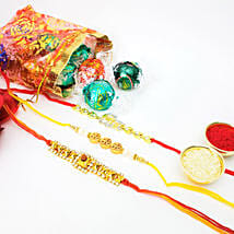 Lindt 10 Pieces And 3 Fancy Rakhis Combo: Set of 3 Rakhi in Canada