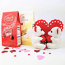 Lindt Valentine Combo: Anniversary Gift Delivery in Canada