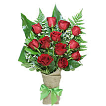 Poetic Love Bouquet Of 12 Red Roses: Same Day Gifts to Canada