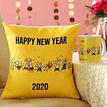 Rat Party New Year MugAnd Cushion Combo: Chinese New Year Gifts in Canada