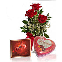 Roses N Chocolate Combo: Rose Day Gifts to Canada