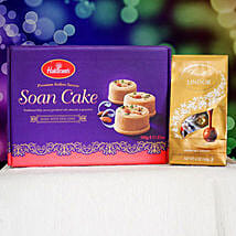 Soan Cake With Lindt Chocolate: Gift Delivery in Canada for Men