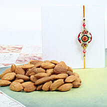 Traditional Rakhi With Almond: Rakhi and Dryfruits to Canada