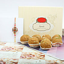 Traditional Rakhi With Besan Laddu: Rakhi and Sweets to Canada