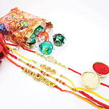 Yummy Lindt 10 Pieces And Rakhi Combo: