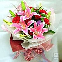 Carnations sea CIN: Valentines Day Flowers to China